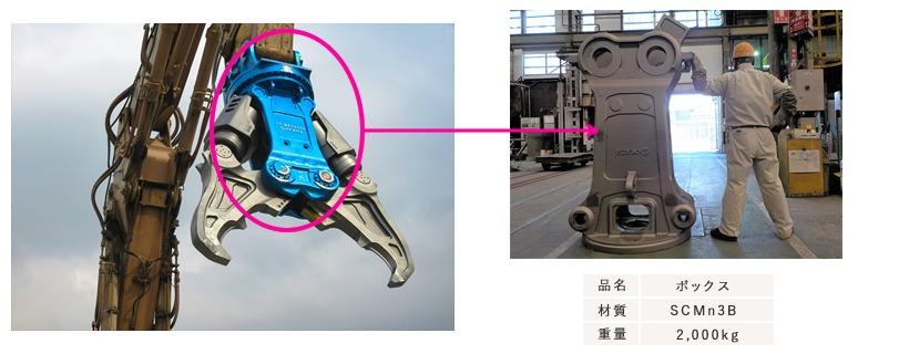 伊達工場 建設機械部品