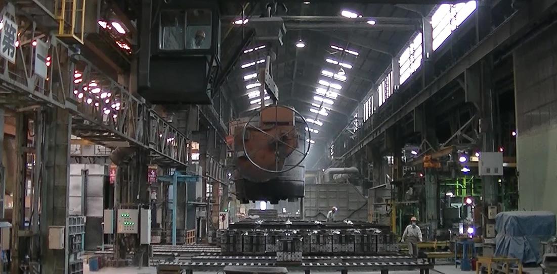 フラン型鋳鉄鋳物・生型鋳鋼鋳物・有機自硬性型鋳鋼鋳物月産合計2,850tの生産量を誇る
